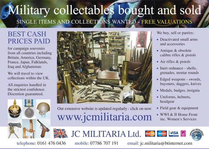 JC Militaria Ltd | Antiques and Collectables