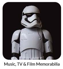 music, TV and film memorabilia
