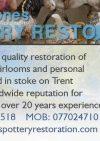 Steve Jones Pottery Restoration